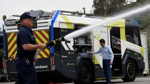 The LA fire department is buying a $1.2 million electric fire truck for use in Hollywood