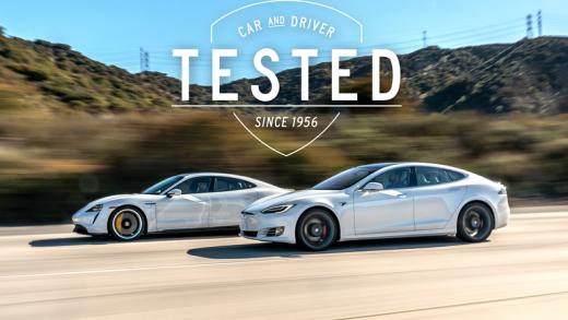 Porsche Taycan's Range Tesla Model S