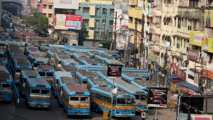 The first day of a 21-day government-imposed nationwide lockdown as a preventive measure against the COVID-19 coronavirus in Kolkata on March 25, 2020.
