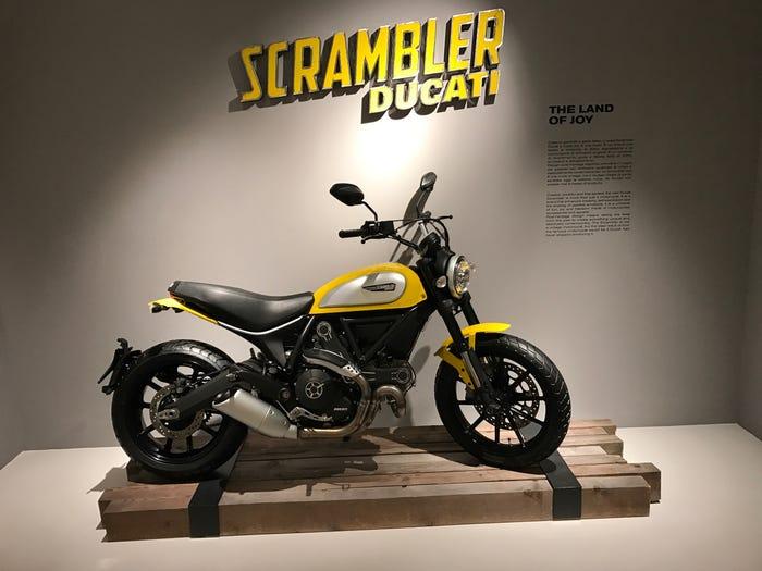 A Ducati Scrambler at the company's museum in Italy. Matthew DeBord/BI
