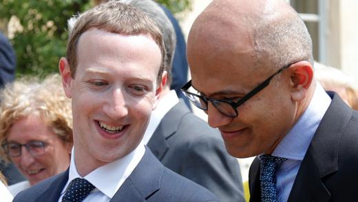 Facebook CEO Mark Zuckerberg Microsoft CEO Satya Nadella