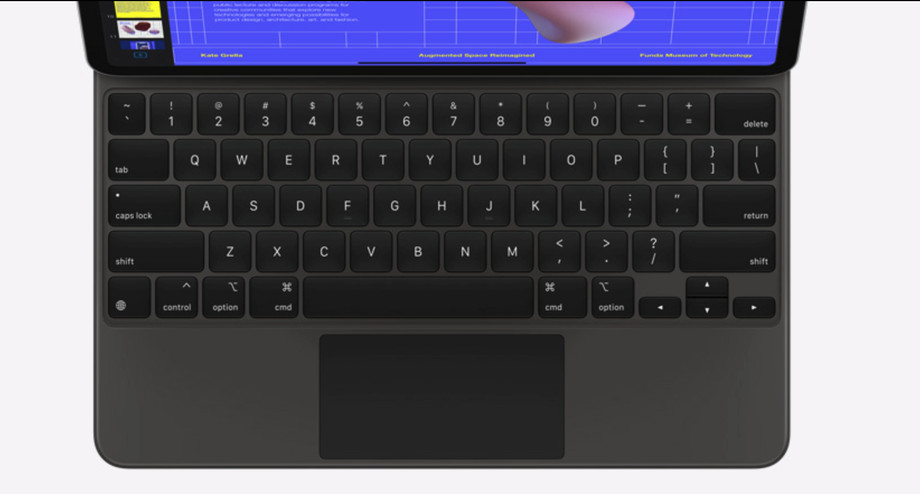 The new iPad Pro keyboard with a trackpad. Image: