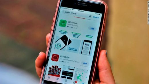 The CovidSafe app was released by the Australian government on Sunday.