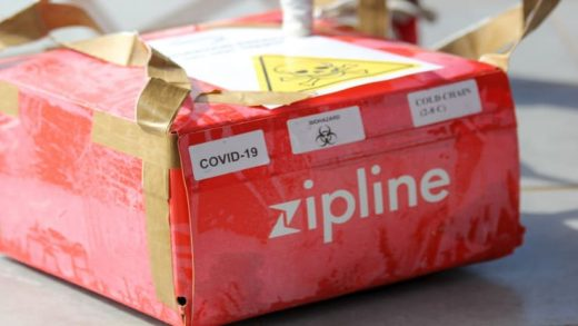 A Covid-19 test delivered by Zipline