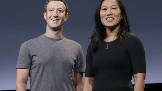 Mark Zuckerberg and Priscilla Chan and Facebook