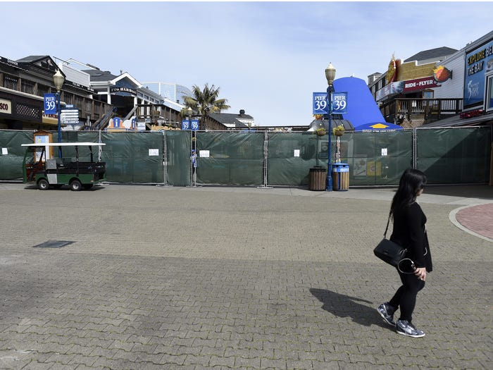 Pier 39 on March 18, 2020. Neal Waters/Anadolu Agency via Getty Images