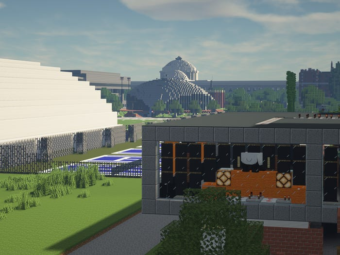 """MIT """"Minecraft"""" campus. William Moses"""