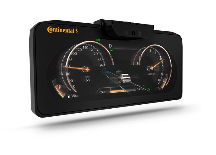Continental 3D instrument cluster.
