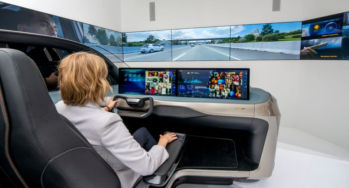 A Continental driving simulator.