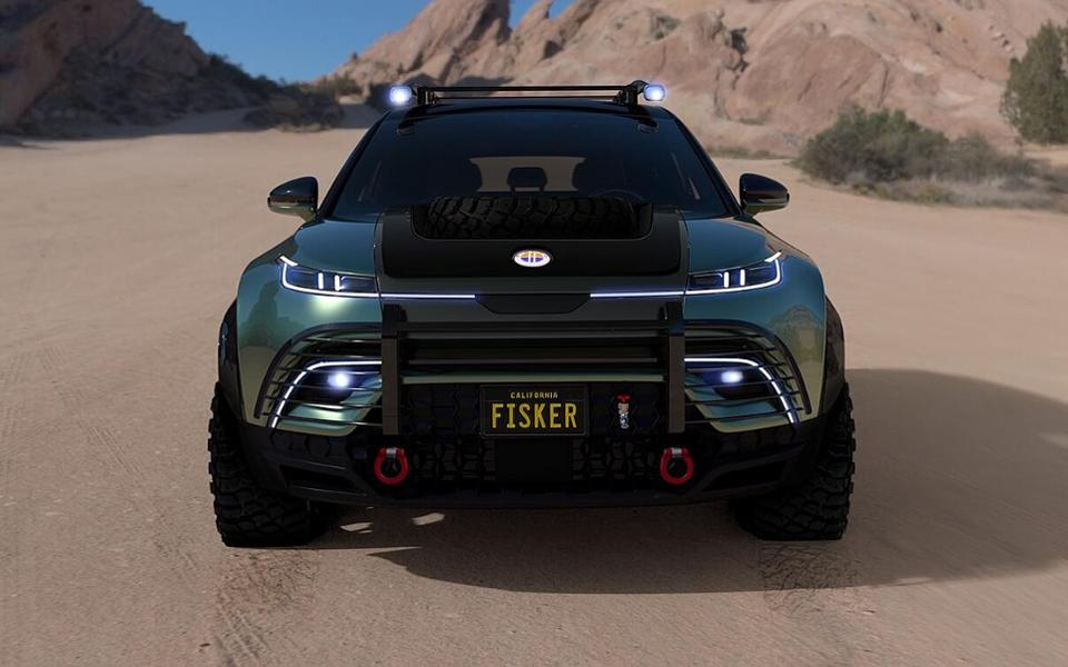 The Fisker Ocean-E electric off-road vehicle