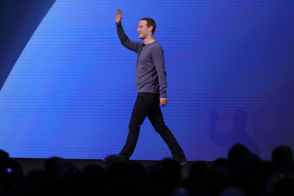 Facebook CEO Mark Zuckerberg speaks at Facebook Inc's annual F8 developers conference in San Jose, California, May 1, 2018.