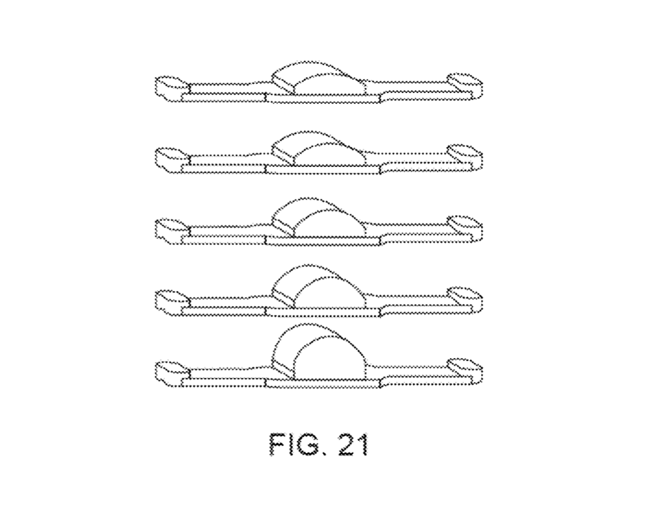 "A series of ""curved capacitive sensor arrays"" shown in the Apple patent USPTO"