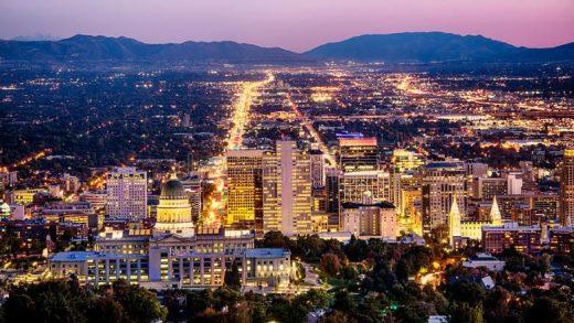 Utah Salt Lake City skyline