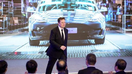 Tesla Inc CEO Elon Musk speaks at an opening ceremony for Tesla China-made Model Y program in Shanghai, China January 7, 2020.