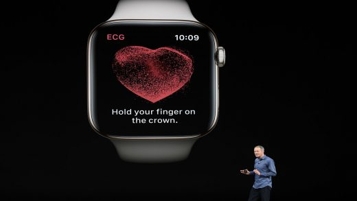 Jeff Williams, chief operating officer of Apple Inc., speaks during an Apple event at the Steve Jobs Theater at Apple Park on September 12, 2018 in Cupertino, California.