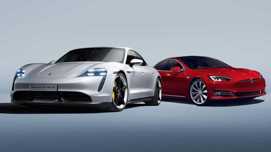 Porsche Taycan Turbo Tesla Model 3
