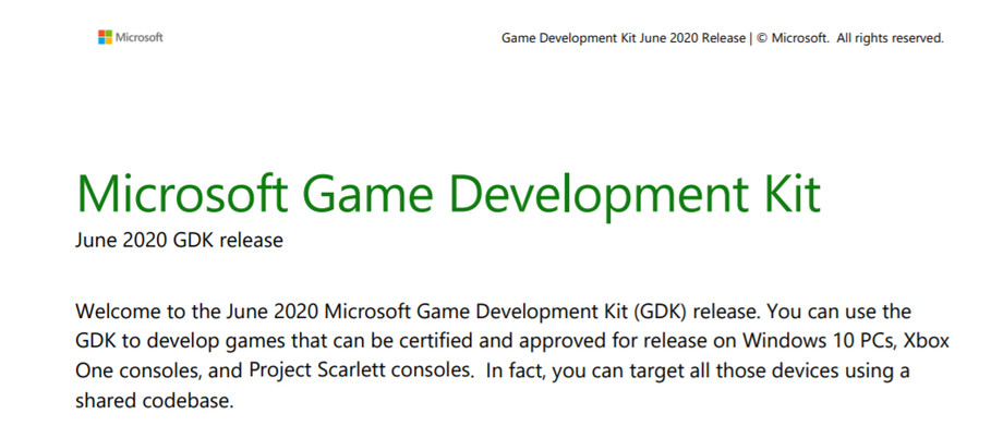 The leaked Microsoft document mentions multiple Project Scarlett consoles.