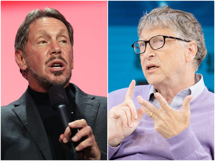 Larry Ellison and Bill Gates