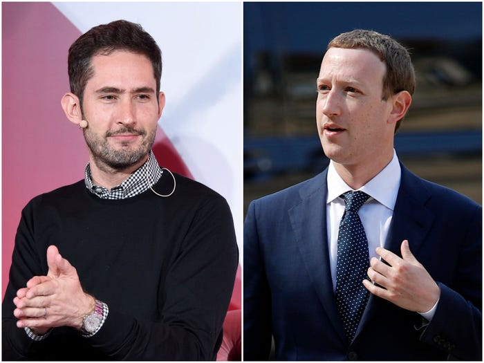 Mark Zuckerberg and Kevin Systrom
