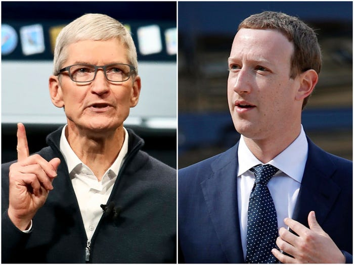 Tim Cook and Mark Zuckerberg