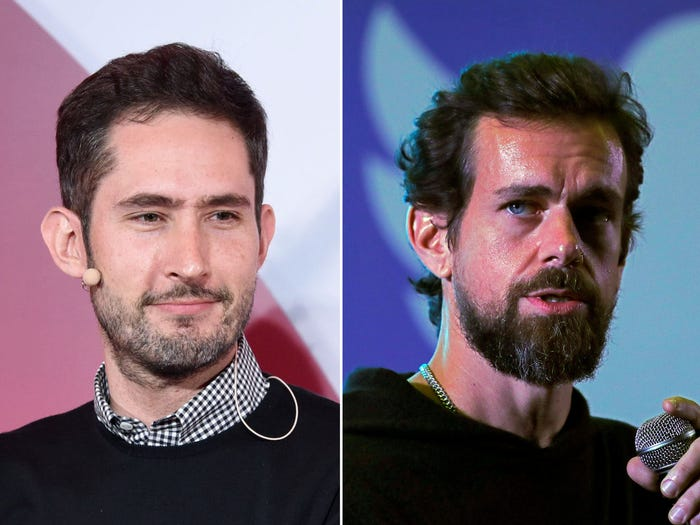 Kevin Systrom and Jack Dorsey