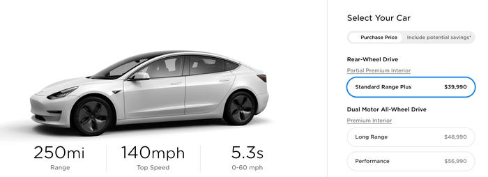 CON: Price. Teslas aren't crazy expensive, but the cheapest Model 3 is still about twice as costly as the least expensive gas-powered sedan you can now buy.