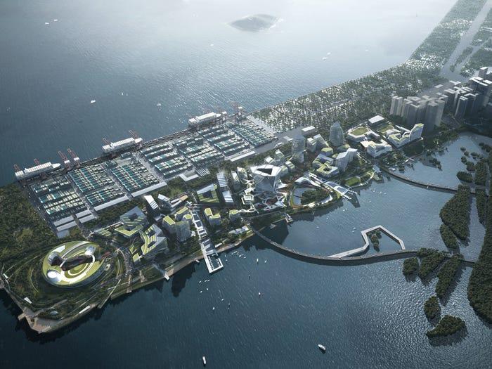 A rendering of Net City. NBBJ