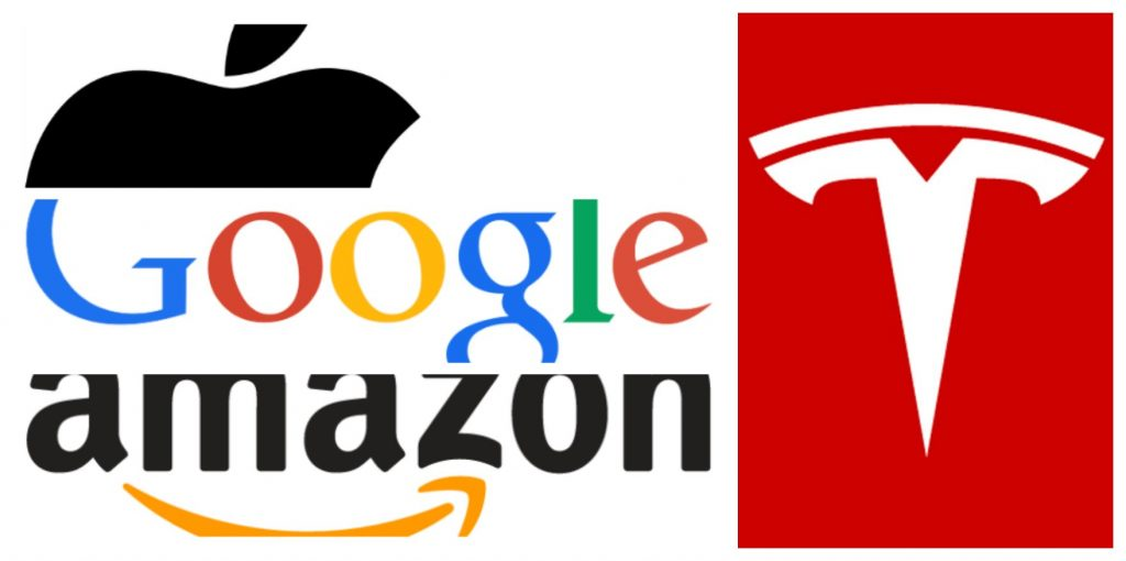 Google Apple Amazon Tesla