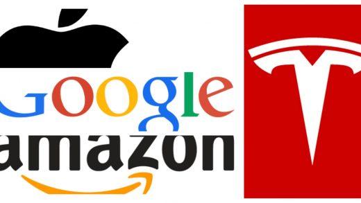 Google Apple Amazon Tesla