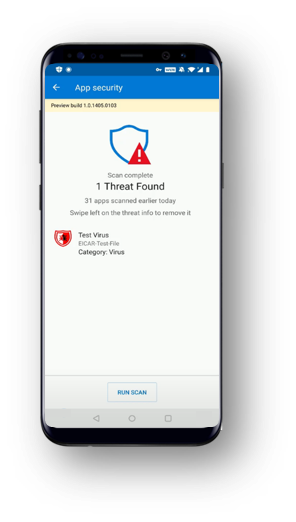 Microsoft's antivirus software for Android.
