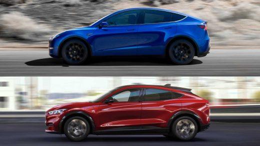 Tesla Model Y Ford Mustang Mach-E