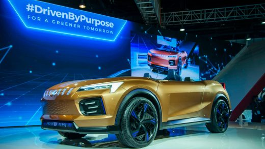Mahindra & Mahindra's Funster Electric Concept SUV on display at Auto Expo 2020 in February. The Indian government has rolled back expectations for EV sales. © Getty Images