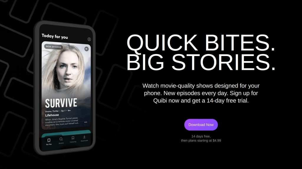 Quibi reportedly lost 90 percent of early users after their free trials expired