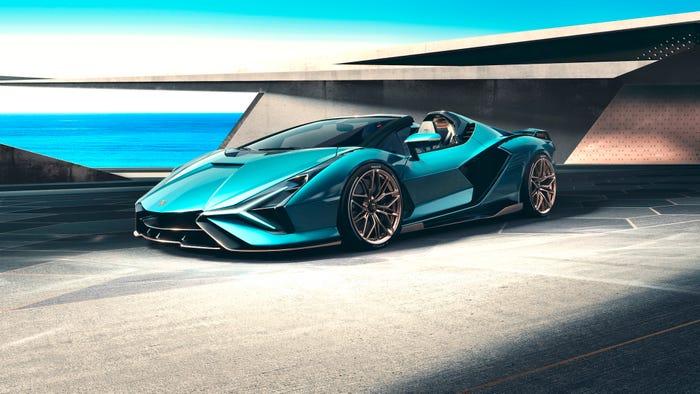 Lamborghini Sián Roadster. Lamborghini