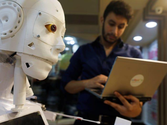 Coronavirus testing robot in Egypt. Reuters