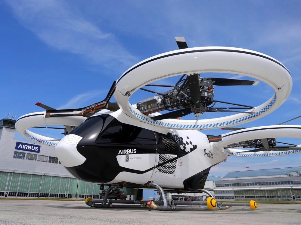 Airbus' CityAirbus eVTOL aircraft