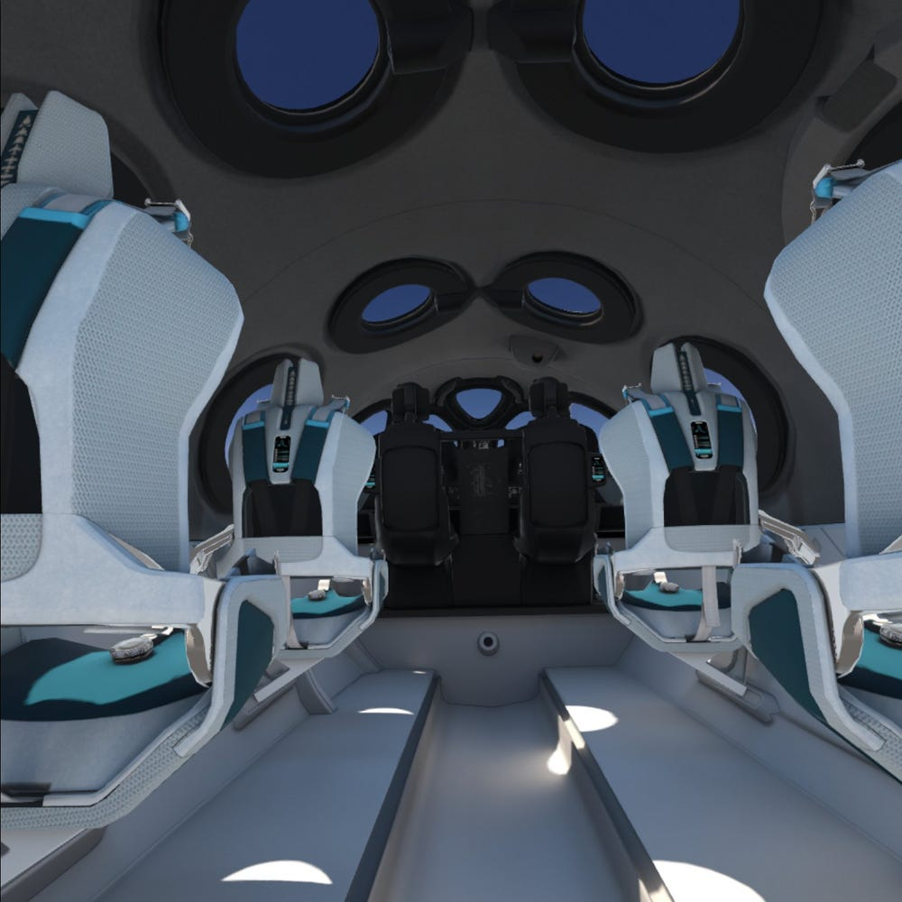 A Virgin Galactic-branded Oculus Quest virtual-reality headset.