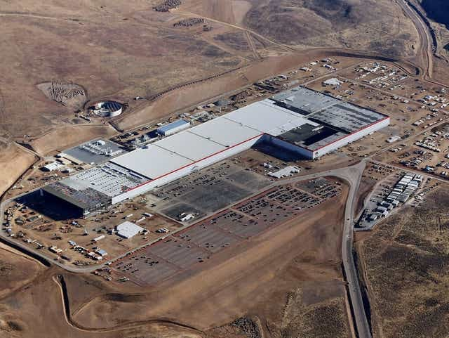 A handout photo made available by Tesla Motors on July 3, 2017 shows an aerial view of Tesla Gigafactory in Sparks, Nevada. TESLA MOTORS VIA EUROPEAN PRESSPHOTO AGENCY