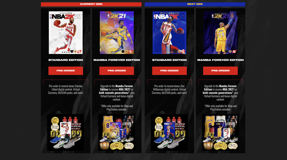 NBA 2K21's PS5 and Series X