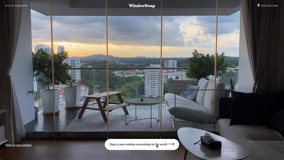 A few windows from WindowSwap WindowSwap