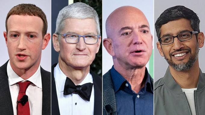 Facebook Mark Zuckerberg Apple Tim Cook Amazon Jeff Bezos Google Sundar Pichai