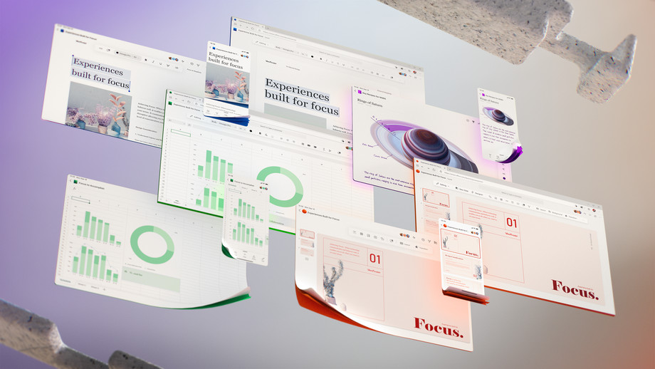 The future of Microsoft Office UI. Image: Microsoft