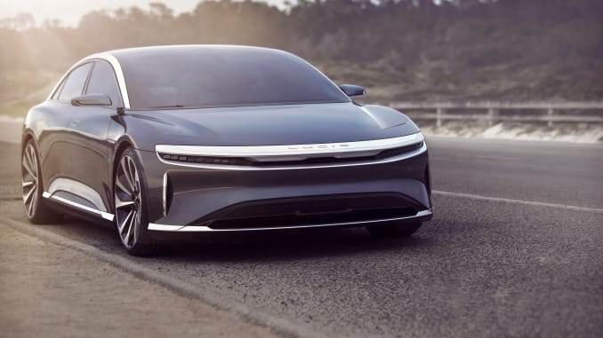 The Lucid Air sedan is expected to go into production at a plant in Arizona in 2021. Lucid