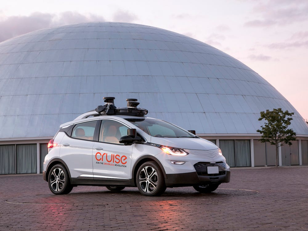 A Chevy Bolt EV equipped with Cruise self-driving technology. GM