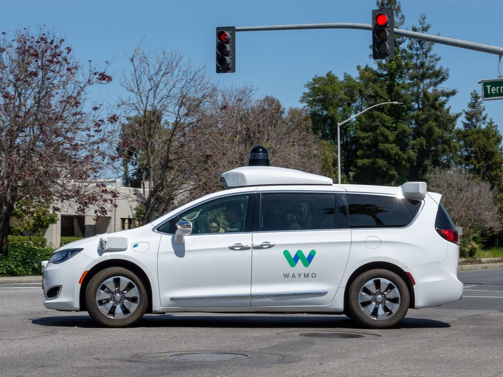 A Chrysler Pacifica minivan equipped with Waymo's self-driving technology. Andrej Sokolow/picture alliance via Getty Images