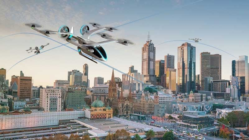 The EmbraerX eVTOL unveiled at Uber Elevate in 2019. Embraer