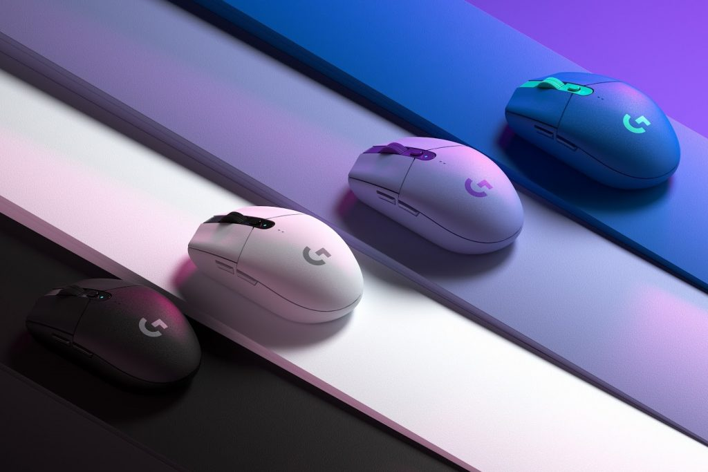 A look at the color treatment applied to the G305 Lightspeed wireless mice. Logitech