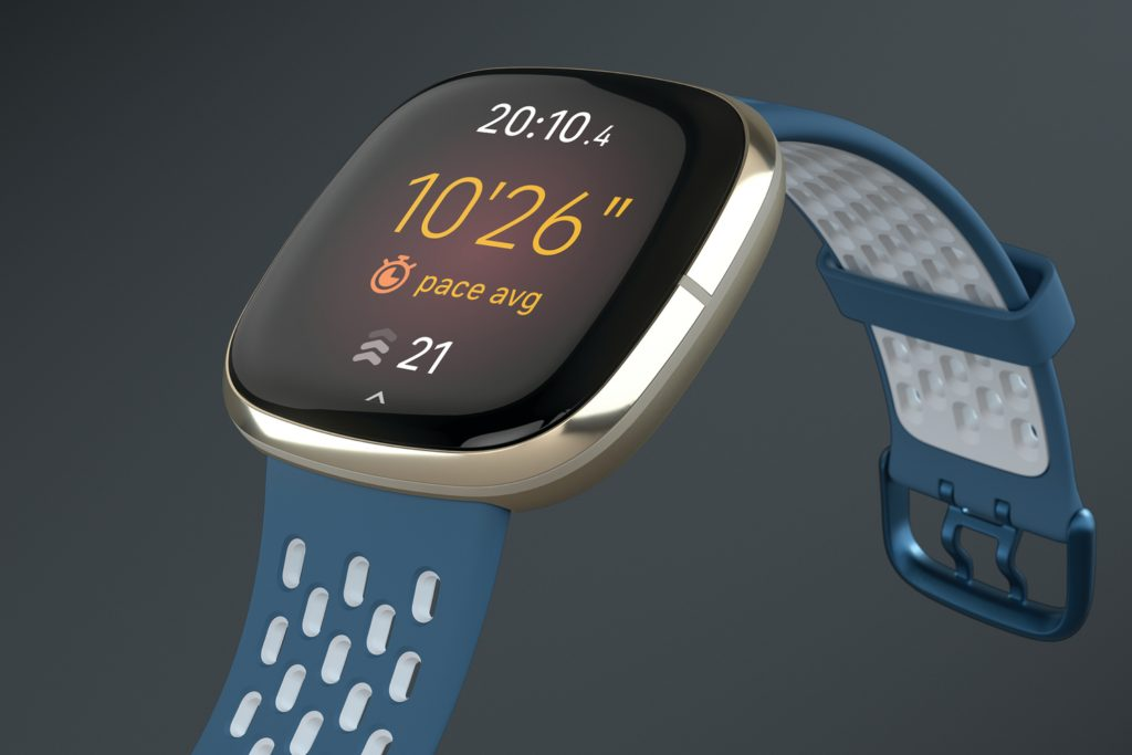 Both the Sense (shown in the picture) and the Versa 3 feature a new strap mechanism that makes them easier to swap out. Image: Fitbit