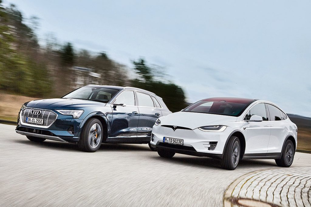 Tesla Model Y Vs 2021 Audi E-Tron