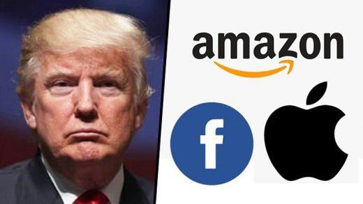 Trump Apple Amazon Facebook